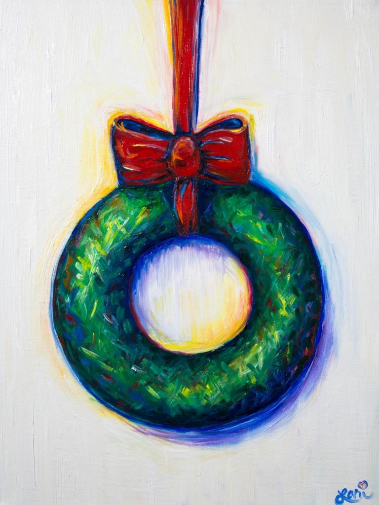 Wreath 12x16 oil on canvas