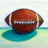 """""""Football"""" 24×30 oil on canvas"""