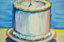 """My birthday 2011"" 11×14 oil on canvas"