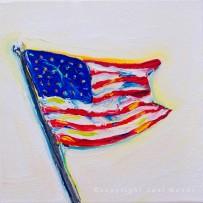 American Flag 2 – 6×6 oil on canvas