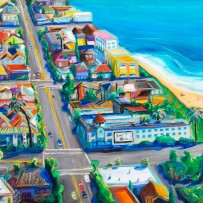 beach city 2016 painting 45×15