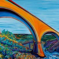"""No Hands Bridge"" 30×40 oil on canvas"