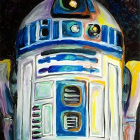 """R2D2″ 11×14 oil on canvas board"