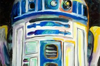&#8220;R2D2&#8243; 11&#215;14 oil on canvas board