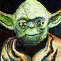 """Yoda"" 11×14 oil on canvas board"