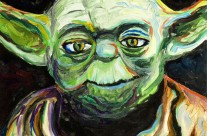 &#8220;Yoda&#8221; 11&#215;14 oil on canvas board