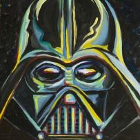 """Darth Vader"" 11×14 oil on canvas board"
