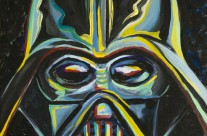 """Darth Vader"" 11×14 oil on canvas board"