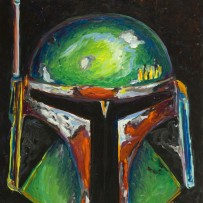 """Boba Fett"" 11×14 oil on canvas board"