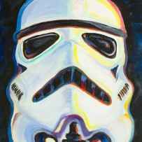 """Stormtrooper"" 11×14 oil on canvas board"