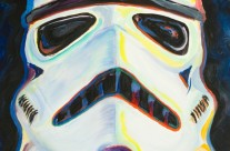 """Stormtrooper"" 11×14 oil on canvas board"