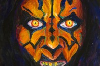 """Darth Maul"" 11×14 oil on canvas board"