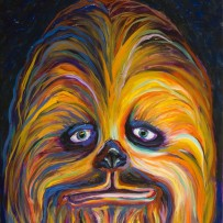"""""""Chewy"""" 11×14 oil on canvas board"""
