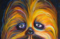 &#8220;Chewy&#8221; 11&#215;14 oil on canvas board