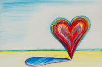 """Heart"" 11×14 oil on canvas (donated for Hearts for the Arts charity auction in Sacramento)"