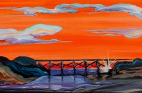 &#8220;Noyo Bridge&#8221; 10&#215;20 oil on canvas