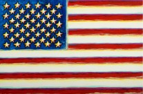&#8220;American Flag&#8221; 24&#215;30 acrylic on canvas