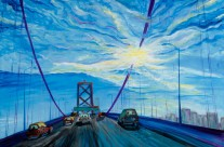 """Bay Bridge"" 30×40 oil on canvas"