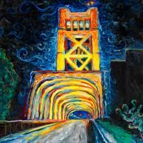 """Tower Bridge"" 30×40 oil on canvas"