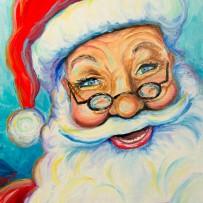 Santa 11×14 oil on canvas painting