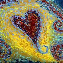 """""""Love"""" 16×20 acrylic on canvas"""
