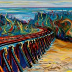 &#8220;Trestles at San Onofre&#8221; 16&#215;20 oil on canvas