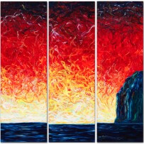 &#8220;Triptych&#8221; 72&#215;24 oil on canvas